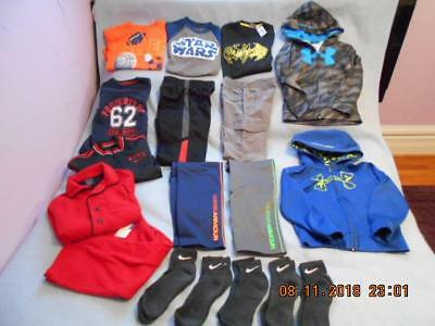 13 Pc Mixed Lot Boys Size 7 Used Winter Clothing (4 are Under Armor)