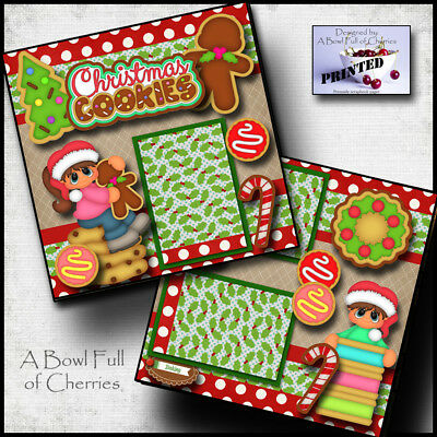 Christmas Cookies Paper Piecing Scrapbooking Border Piece Baking