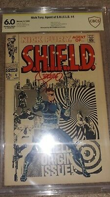 Nick Fury Agent Avengers 4 Stan Lee CGC CBCS SS Signed Steranko Silver Age Key