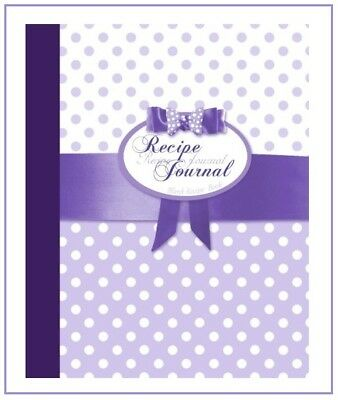Purple Bow Blank Recipe Cookbook Book Journal Diary My Favorite Family Recipes