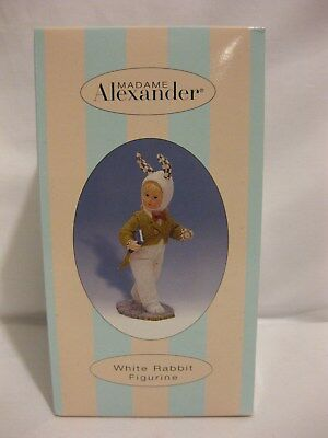 NIB Madame Alexander Alice Wonderland White Rabbit Figure - Brand NEW