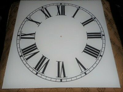 "Large Paper Clock Dial - 11"" M/T- Roman - Cream Matt - Face / Clock Parts/Spares"