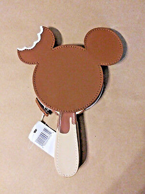 Disney Parks Exclusive NWT Mickey Mouse Ice Cream Shaped Coin Purse