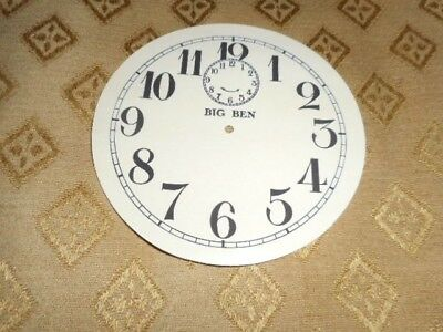 Round 'Big Ben' Paper Clock Dial-103mm M/T-Roman- Cream- Face/Clock Parts/Spares