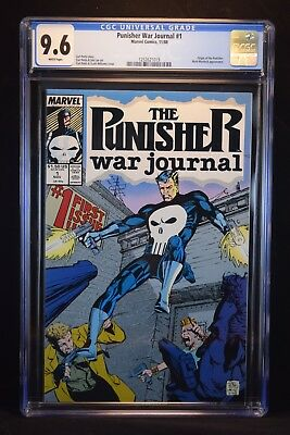 The Punisher War Journal #1 (Nov 1988, Marvel) - CGC 9.6 White Pages