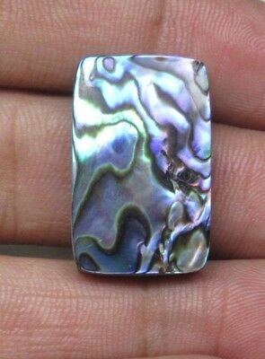 Natural Abalone Shell Cabochon Baguette Shape 22.85 Cts Loose Gemstone D 7168