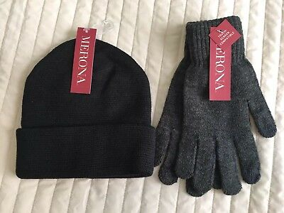 Merona Knit Gloves And Hat Separates One Size