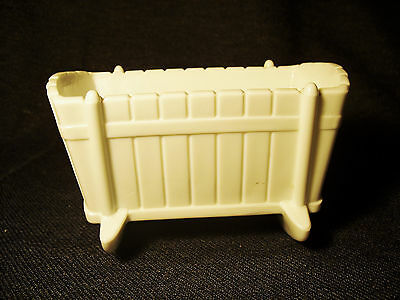 Vintage 1950's Indiana Glass White Milk Glass Baby Cradle Candy Dish Planter EUC
