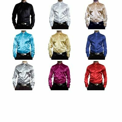 Wedding Men's Shiny Shirt Easy Ironing Wedding Shirt Many Satin Colors New Kent