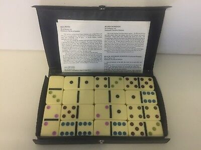 Dominoes- Vintage- 28 Complete- Double Six- With Instructions.