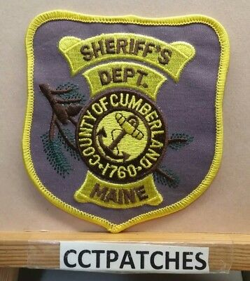 Cumberland County, Maine Sheriff (Police) Shoulder Patch Me