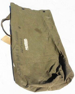 Orig 1944 Duffle Bag Named To Major In 80Th Inf Div Complete W/shipping Tags