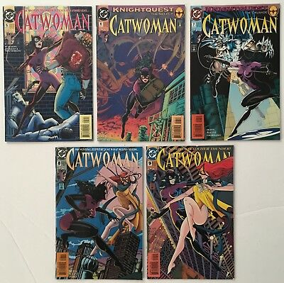 Catwoman #s 5 6 7 8 9 Run Lot of 5 DC Comics 1993-1994 FN/VF 7.0 to VF/NM 9.0 WP