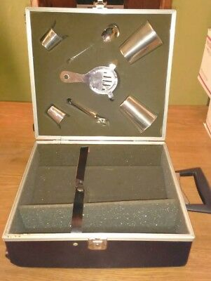 Vintage Portable  Travel Bar With Key