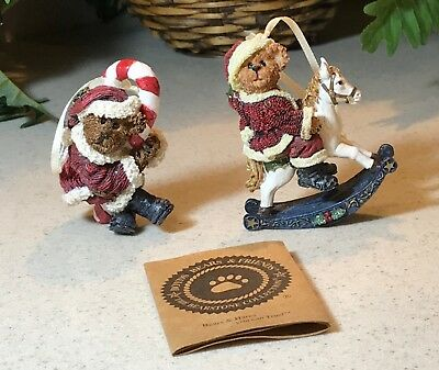 Boyds Bears and Friends The Bearstone Collection Ornaments - Lot of 2