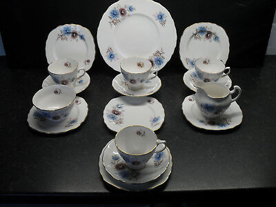 Royal Vale Windrush English Fine Bone China Tea Service Vintage Retro