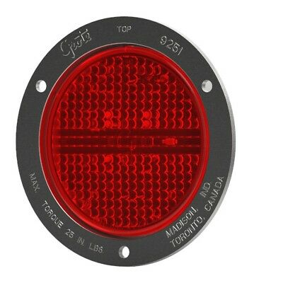 """Grote STT LAMP, 4"""",RED,W/SS THEFT-RESISTANT FLANGE,SUPERNOVA LED (53192)"""