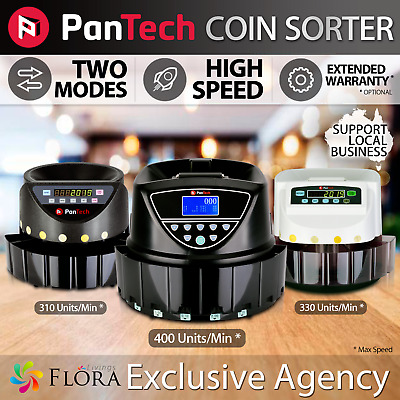 PanTech Australian Coin Sorter Machine Display Automatic Electronic Counter ORG