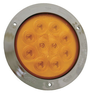 53303 - TURN LAMP 4in YELLOW W/SS THEFT RESISTANT FLNG-MNT SPRNOVA LED  - (1 EA)