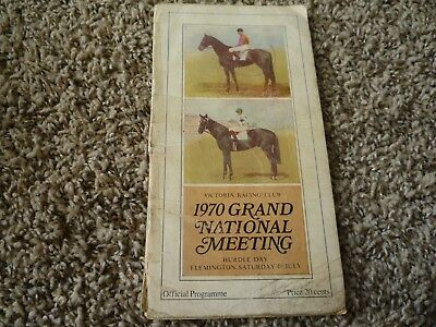 1970 Grand National Meeting Flemington VRC Horse Racing Programme - Race Book