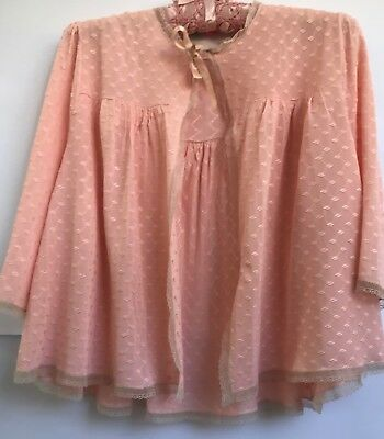 VINTAGE 1930s-40s DRESSING SACQUE / BED JACKET LINGERIE apricot rayon