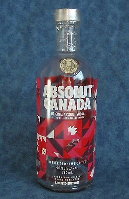 ABSOLUT VODKA *** SPECIAL LIMITED EDITION 750 ml BOTTLE * CANADA 150