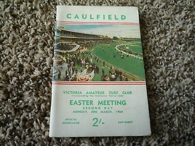 1964 Caulfield Easter Cup - Victoria Turf Club Horse Racing Programme Race Book.