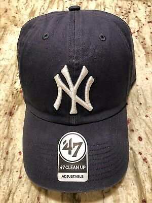9521b112b Brand New Vintage Navy NY Yankees 47 Brand Clean Up Adjustable Free Shipping