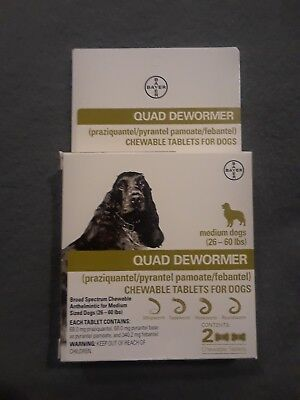 New Expert Care Quad Dewormer For Medium Dogs (26-60 Lbs) EXP AUG 2020