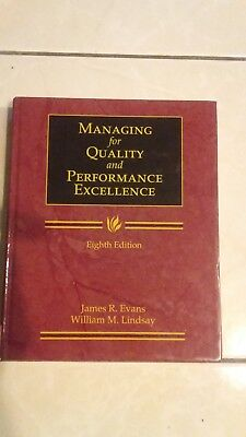 Managing for Quality and Performance Excellence Eighth Ed by Evans and Lindssay