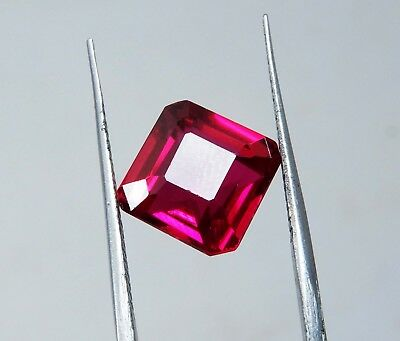 Natural 2.60 Cts Square Cut Blood Top Red Ruby Loose gemstone AH127