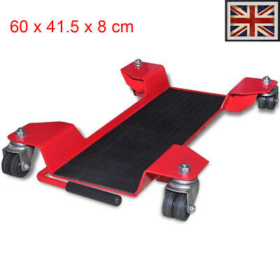Motorcycle Dolly Centre Stand Red Motorbike Tool Garage Mover Paddock steel UK