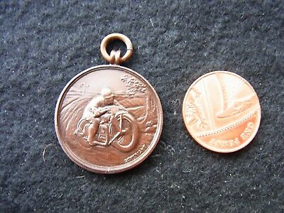 Bronze Medal/fob: S & D. Motorcycle Club Anniversary Trial. 23.10.27. T.w. Irwin