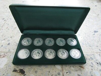 Australien Kookaburra Privy Mark Collection 10 Unzen .999 Silber Stempelglanz
