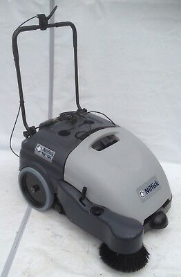 Nilfisk Sw750 Walk Behind Commercial Sweeper 12volts