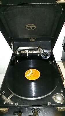 Koffergrammophon Grafonola Columbia No. 201 von 1930/31, super Zustand!