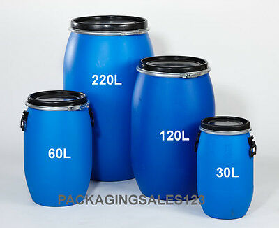New Full Open Top Plastic Drum Container Suitable For Storage Food Grade