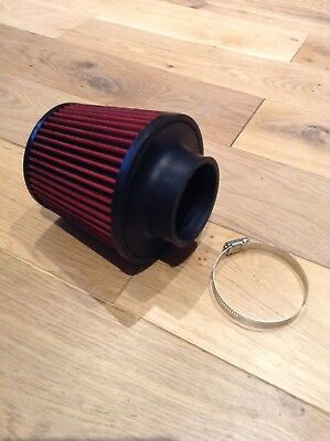 """3"""" 76mm Air Filter Cone Filter K&N Style Universal Fit - UK SELLER !!"""