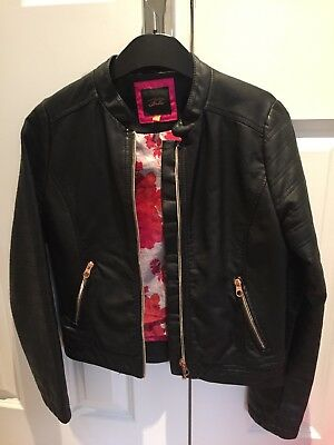 787e82afafdbc TED BAKER GIRLS Black Faux Leather Jacket Age 13 Years - £17.99 ...