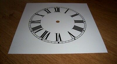 "Ogee Paper Clock Dial- 8"" M/T - Roman -  White Matt - Face/ Clock Parts/Spares"