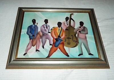 Black Americana Jazz Band Painting? Signed Nicholson 12X16 Look, Read!!