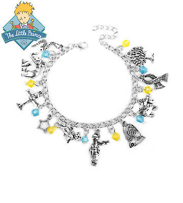 The Little Prince  (10 Themed Charms) Assorted Metal Charm Bracelet