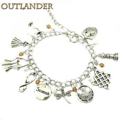 Outlander (10 Themed Charms) Assorted Metal Charm Bracelet