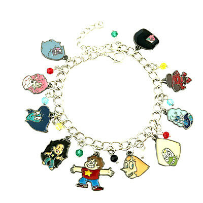 Steven Universe (10 Themed Charms) Assorted Metal Charm Bracelet