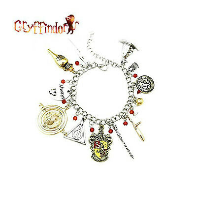 Harry Potter Gryffindor (11 Themed Charms) Assorted Metal Charm Bracelet