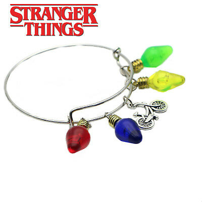 Stranger Things  (5 Themed Charms) Assorted Metal Charm Bracelet