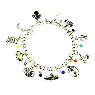 Friends TV Series (10 Themed Charms) Assorted Metal Charm Bracelet