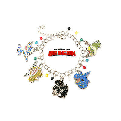 HOW TO TRAIN YOUR DRAGON 11 Themed Charms Assorted Metal Charm Bracelet