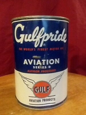 Vintage Gulfpride Aviation Oil Can