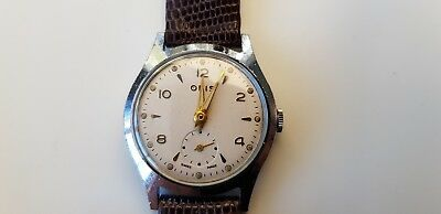 Vintage Oris (Swiss made) Fond Acier men's wrist watch with second hand dial